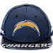 Front view of New Era Los Angeles Chargers NFL 9FIFTY 2017 Draft Snapback Hat in Navy