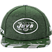 Front view of New Era New York Jets NFL 9FIFTY 2017 Draft Snapback Hat in Team Color
