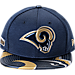 Front view of New Era Los Angeles Rams NFL 9FIFTY 2017 Draft Snapback Hat in Team Color