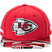 Front view of New Era Kansas City Chiefs NFL 9FIFTY 2017 Draft Snapback Hat in Black