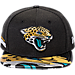 Front view of New Era Jacksonville Jaguars NFL 9FIFTY 2017 Draft Snapback Hat in Team Color
