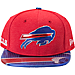 Front view of New Era Buffalo Bills NFL 9FIFTY 2017 Draft Snapback Hat in Black