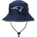 Front view of New Era New England Patriots NFL Training Bucket Hat in Team Colors