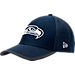 Front view of New Era Seattle Seahawks NFL Training Mesh 39THIRTY Flex Hat in Team Colors