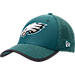 Front view of New Era Philadelphia Eagles NFL Training Mesh 39THIRTY Flex Hat in Team Colors
