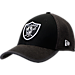 Front view of New Era Oakland Raiders NFL Training Mesh 39THIRTY Flex Hat in Team Colors