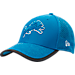 Front view of New Era Detroit Lions NFL Training Mesh 39THIRTY Flex Hat in Team Colors