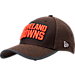 Front view of New Era Cleveland Browns NFL Training Mesh 39THIRTY Flex Hat in Team Colors