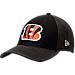 Front view of New Era Cincinnati Bengals NFL Training Mesh 39THIRTY Flex Hat in Team Colors