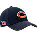 Front view of New Era Chicago Bears NFL Training Mesh 39THIRTY Flex Hat in Team Colors