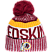 Front view of New Era Washington Redskins NFL Sideline Knit Hat in Team Colors