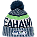 Front view of New Era Seattle Seahawks NFL Sideline Knit Hat in Team Colors