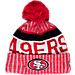 Front view of New Era San Francisco 49ers NFL Sideline Knit Hat in Team Colors