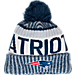 Front view of New Era New England Patriots NFL Sideline Knit Hat in Team Colors