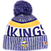 Front view of New Era Minnesota Vikings NFL Sideline Knit Hat in Team Colors