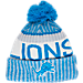 Front view of New Era Detroit Lions NFL Sideline Knit Hat in Team Colors
