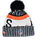 Back view of New Era Cleveland Browns NFL Sideline Knit Hat in Team Colors