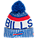 Front view of New Era Buffalo Bills NFL Sideline Knit Hat in Team Colors