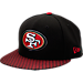 Front view of New Era San Francisco 49ers NFL Sideline 9FIFTY Snapback Hat in Team Colors