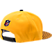 Back view of New Era Pittsburgh Steelers NFL Sideline 9FIFTY Snapback Hat in Team Colors