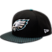 Front view of New Era Philadelphia Eagles NFL Sideline 9FIFTY Snapback Hat in Team Colors