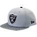 Front view of New Era Oakland Raiders NFL Sideline 9FIFTY Snapback Hat in Team Colors