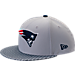 Front view of New Era New England Patriots NFL Sideline 9FIFTY Snapback Hat in Team Colors