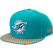 Front view of New Era Miami Dolphins NFL Sideline 9FIFTY Snapback Hat in Team Colors