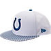 Front view of New Era Indianapolis Colts NFL Sideline 9FIFTY Snapback Hat in Team Colors