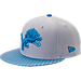 Front view of New Era Detroit Lions NFL Sideline 9FIFTY Snapback Hat in Team Colors
