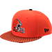 Front view of New Era Cleveland Browns NFL Sideline 9FIFTY Snapback Hat in Team Colors