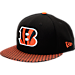 Front view of New Era Cincinnati Bengals NFL Sideline 9FIFTY Snapback Hat in Team Colors