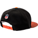 Back view of New Era Cincinnati Bengals NFL Sideline 9FIFTY Snapback Hat in Team Colors