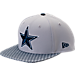 Front view of New Era Dallas Cowboys NFL Sideline 9FIFTY Snapback Hat in Team Colors