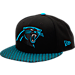 Front view of New Era Carolina Panthers NFL Sideline 9FIFTY Snapback Hat in Team Colors