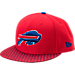 Front view of New Era Buffalo Bills NFL Sideline 9FIFTY Snapback Hat in Team Colors
