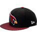 Front view of New Era Arizona Cardinals NFL Sideline 9FIFTY Snapback Hat in Team Colors