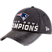 Front view of New Era New England Patriots NFL Super Bowl 51 Champions Strapback Hat in Black