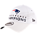 Front view of New Era New England Patriots NFL SB51 Conference Champion Adjustable Hat in White