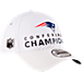 Back view of New Era New England Patriots NFL SB51 Conference Champion Adjustable Hat in White
