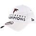 Front view of New Era Atlanta Falcons NFL SB51 Conference Champion Adjustable Hat in White