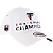 Back view of New Era Atlanta Falcons NFL SB51 Conference Champion Adjustable Hat in White
