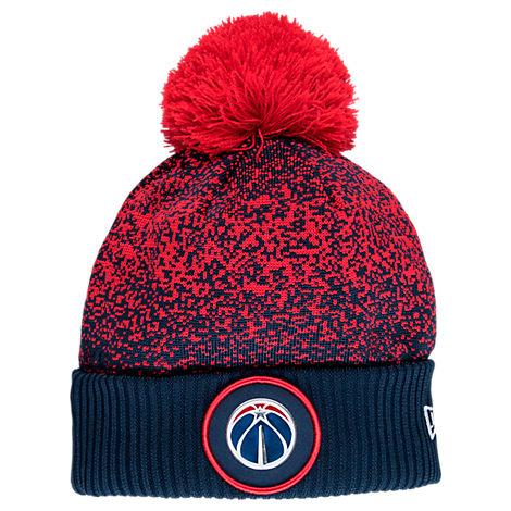 New Era Washington Wizards NBA On Court Collection Pom Knit Hat