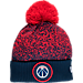 Front view of New Era Washington Wizards NBA On Court Collection Pom Knit Hat in Team Colors