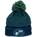 Front view of New Era Utah Jazz NBA On Court Collection Pom Knit Hat in Team Colors