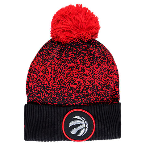 New Era Toronto Raptors NBA On Court Collection Pom Knit Hat