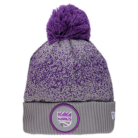 New Era Sacramento Kings NBA On Court Collection Pom Knit Hat
