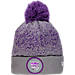 Front view of New Era Sacramento Kings NBA On Court Collection Pom Knit Hat in Team Colors
