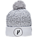 Front view of New Era San Antonio Spurs NBA On Court Collection Pom Knit Hat in White
