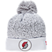 Front view of New Era Portland Trail Blazers NBA On Court Collection Pom Knit Hat in White